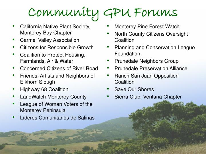 California Native Plant Society, Monterey Bay Chapter