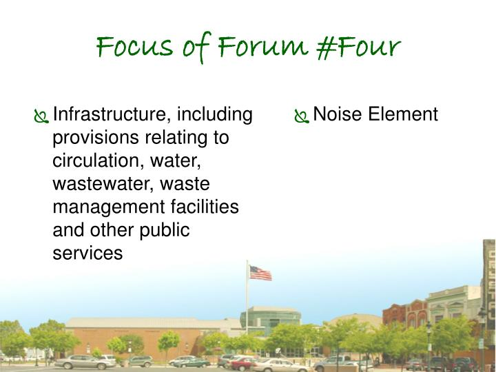 Focus of Forum #Four