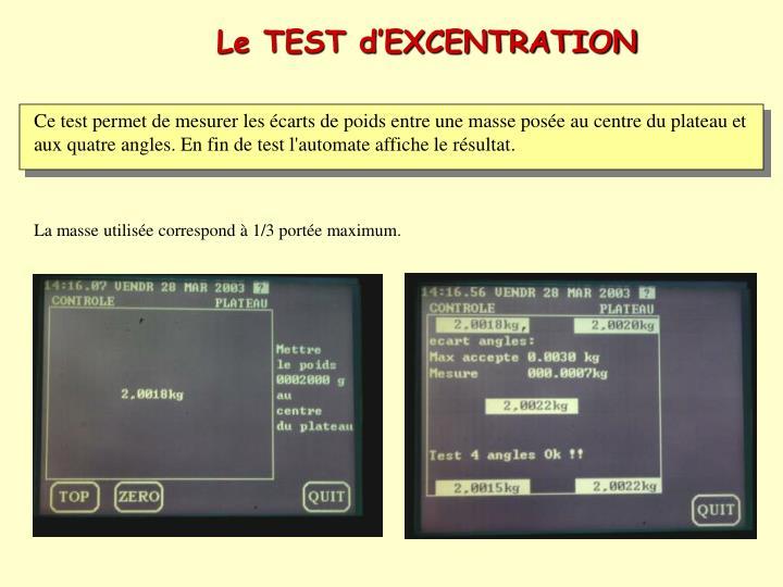 Le TEST d'EXCENTRATION