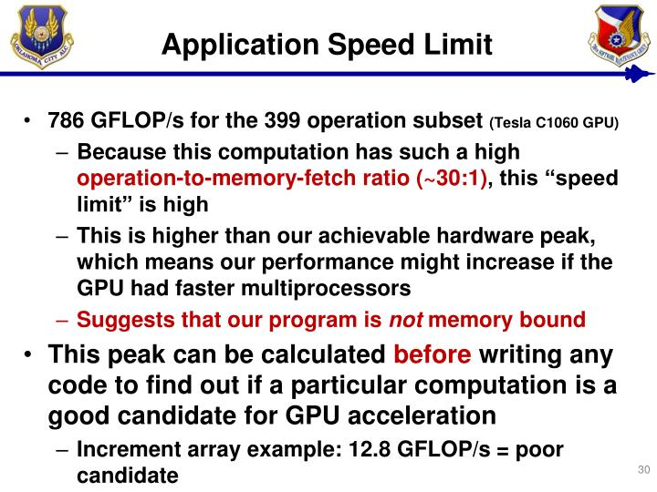 Application Speed Limit