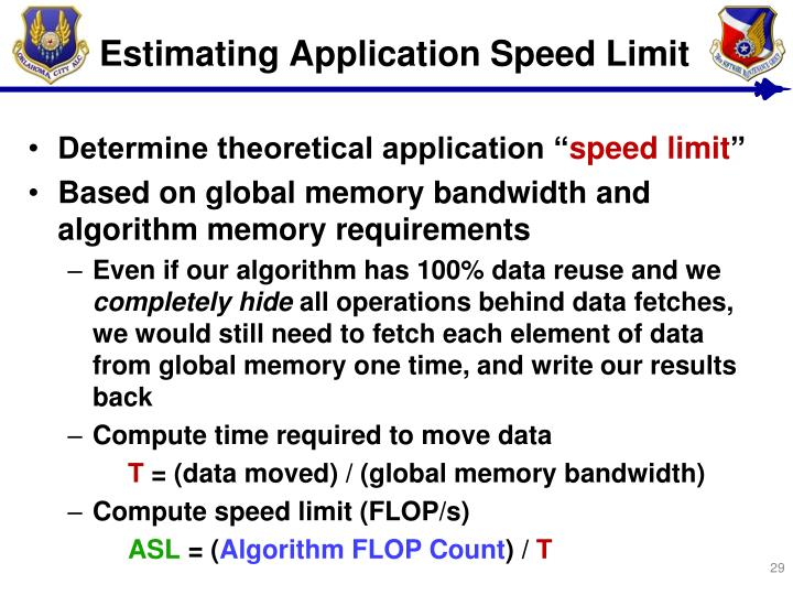 Estimating Application Speed Limit