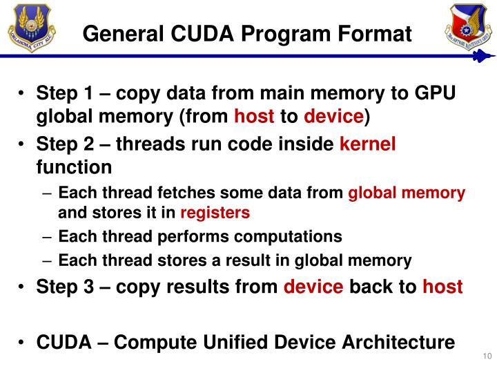 General CUDA Program Format