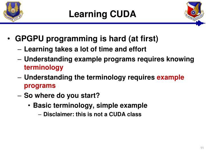 Learning CUDA