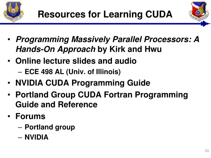 Resources for Learning CUDA