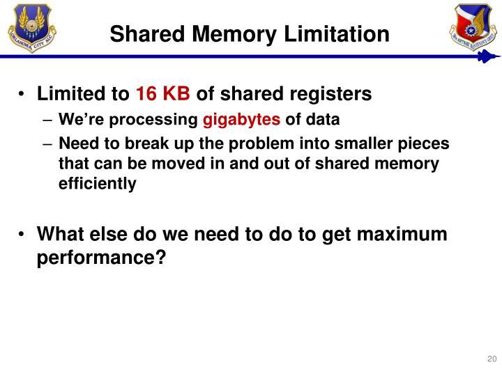 Shared Memory Limitation