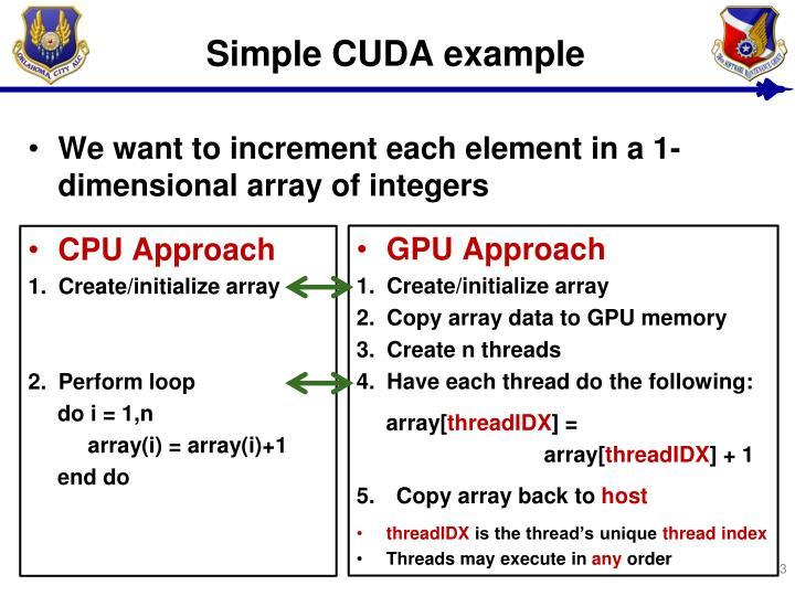 Simple CUDA example