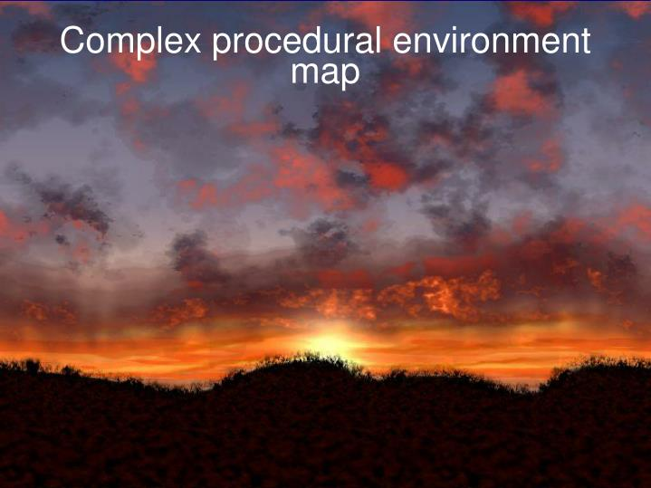 Complex procedural environment map