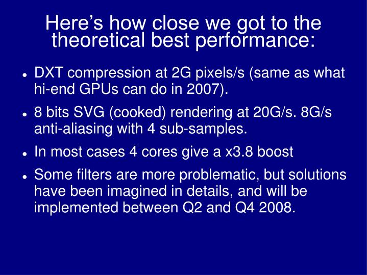 Here's how close we got to the theoretical best performance: