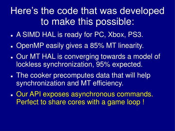 Here's the code that was developed to make this possible: