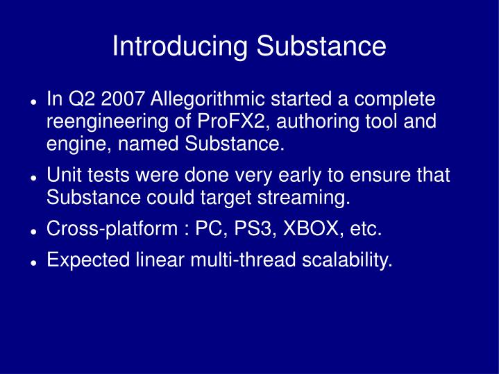Introducing Substance