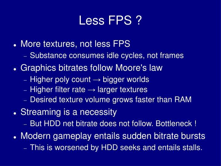 Less FPS ?