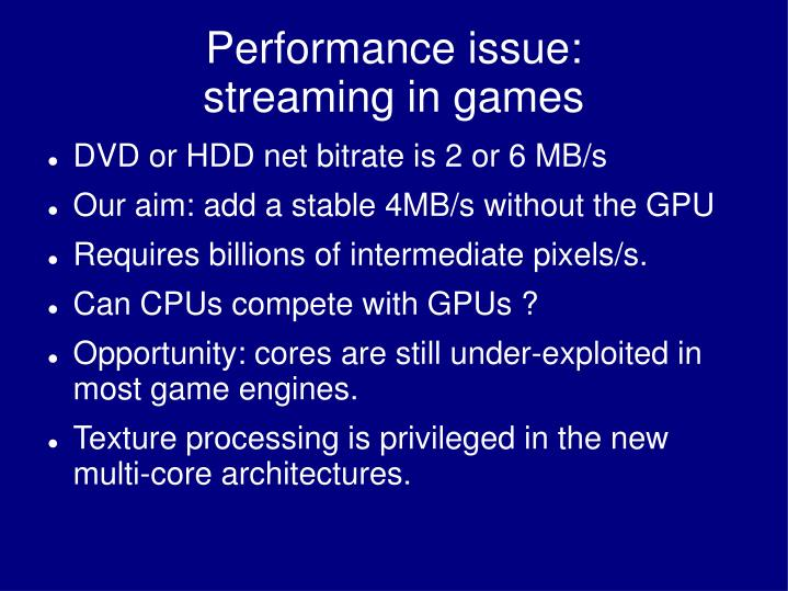 Performance issue: