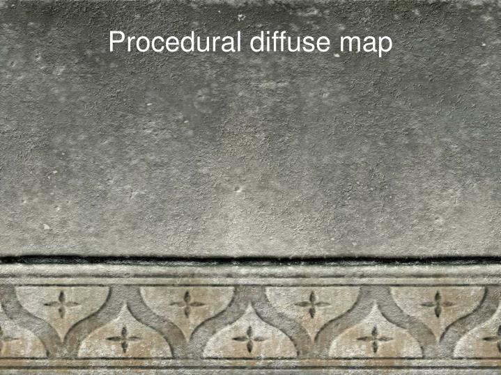 Procedural diffuse map