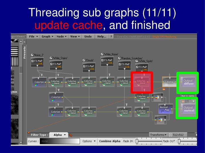 Threading sub graphs (11/11)