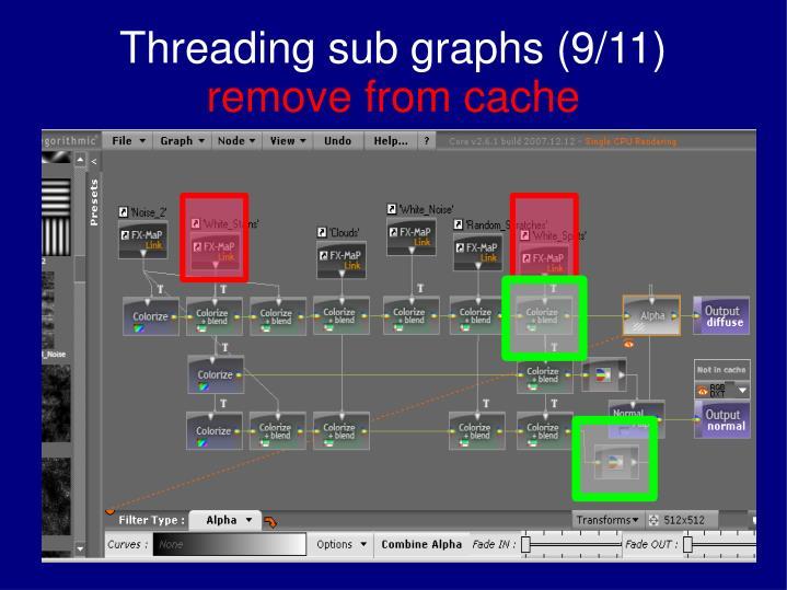 Threading sub graphs (9/11)