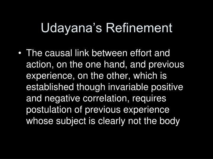Udayana's Refinement
