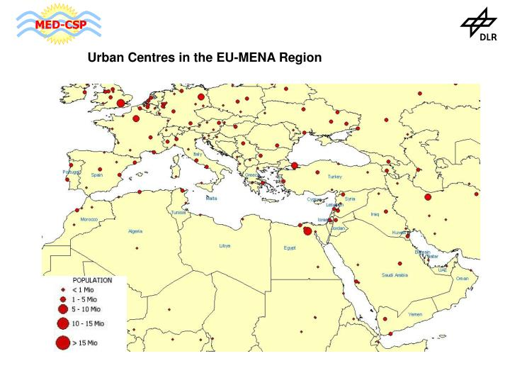 Urban Centres in the EU-MENA Region