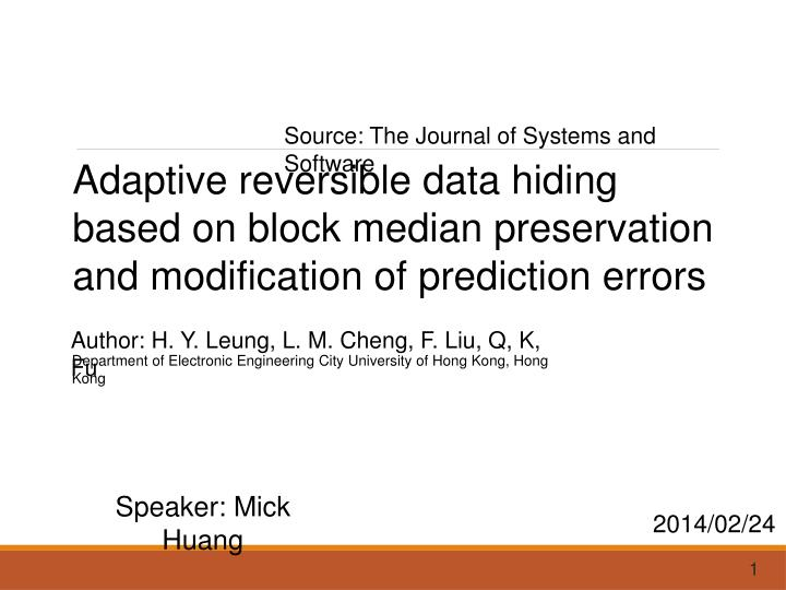Source: The Journal of Systems and Software