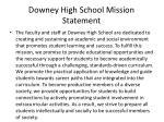 downey high school mission statement