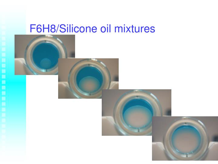F6H8/Silicone oil mixtures