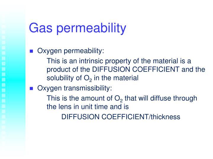 Gas permeability