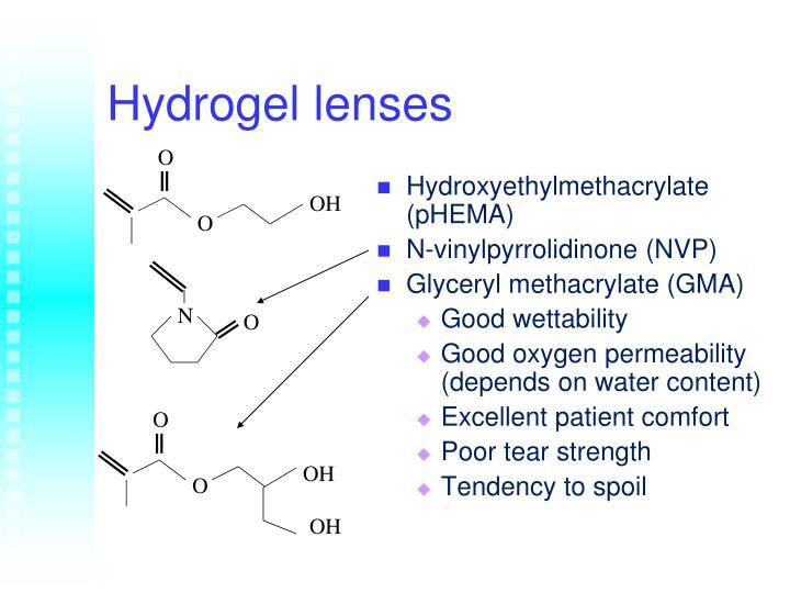 Hydrogel lenses