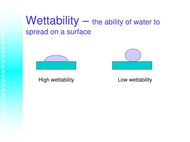 Wettability –