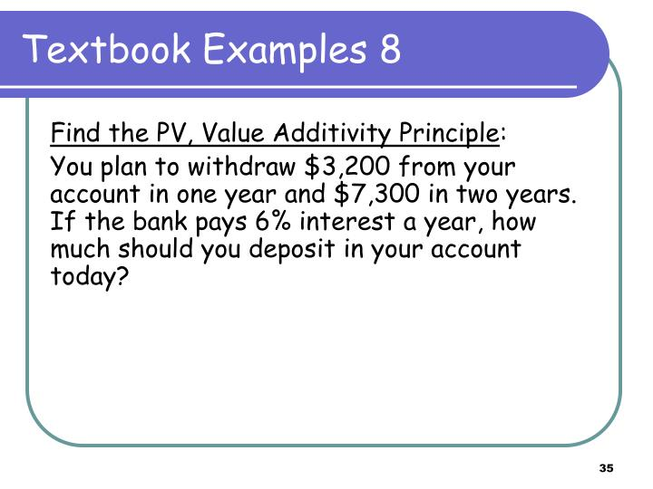 Textbook Examples 8