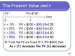 the present value and r1