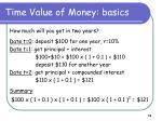 time value of money basics1