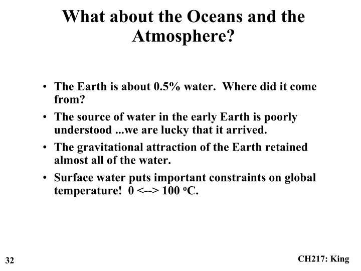The Earth is about 0.5% water.  Where did it come from?