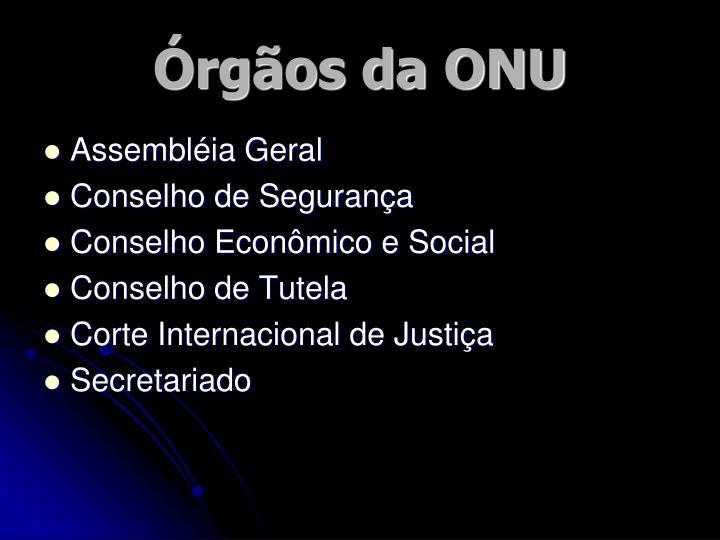 Órgãos da ONU