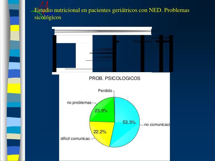 Estudio nutricional en pacientes geriátricos con NED. Problemas sicológicos