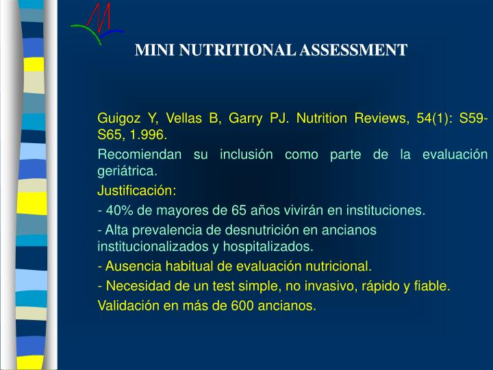 MINI NUTRITIONAL ASSESSMENT