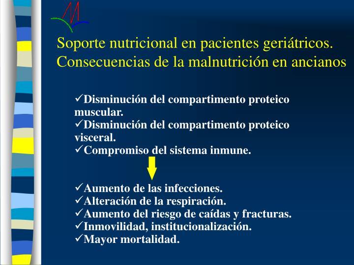 Soporte nutricional en pacientes geriátricos. Consecuencias de la malnutrición en ancianos