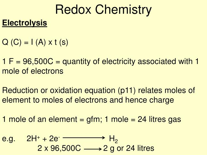 Redox Chemistry