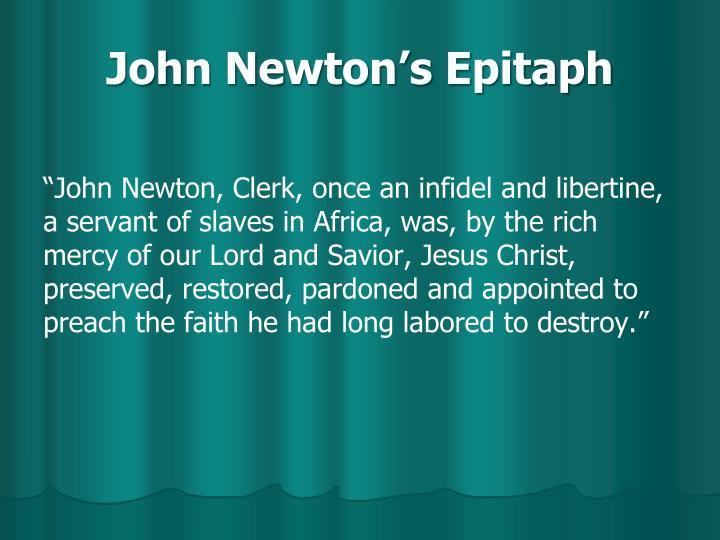 John Newton's Epitaph