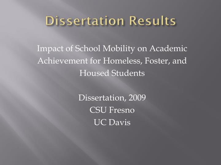Dissertation Results