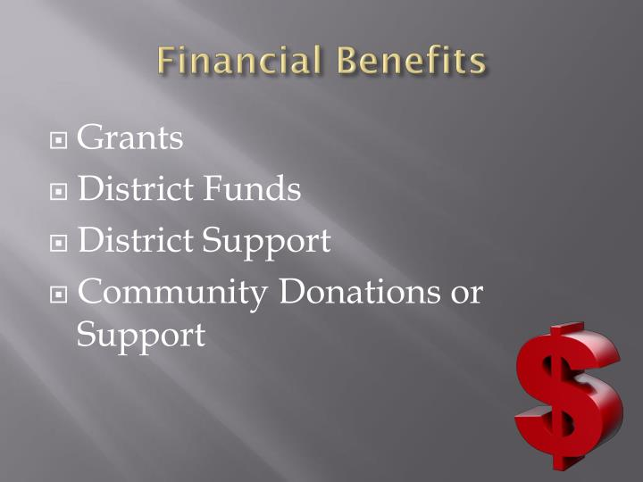 Financial Benefits