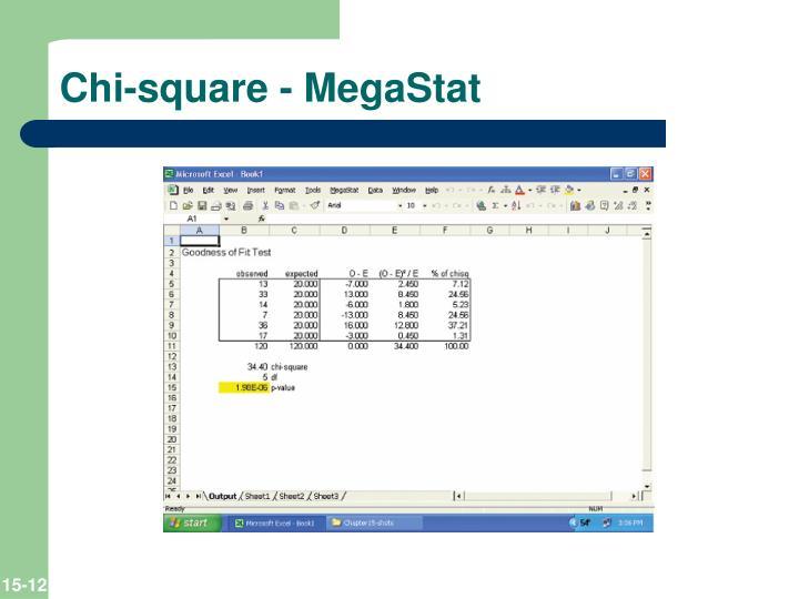 Chi-square - MegaStat