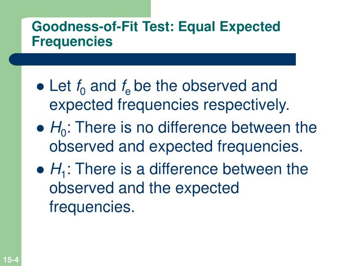 Goodness-of-Fit Test: Equal Expected Frequencies