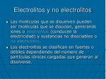 electrolitos y no electrolitos