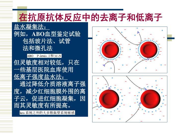 在抗原抗体反应中的去离子和低离子