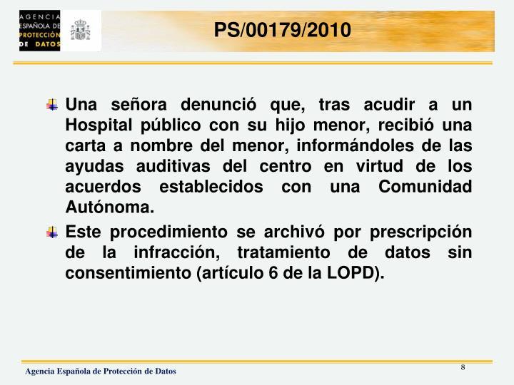 PS/00179/2010