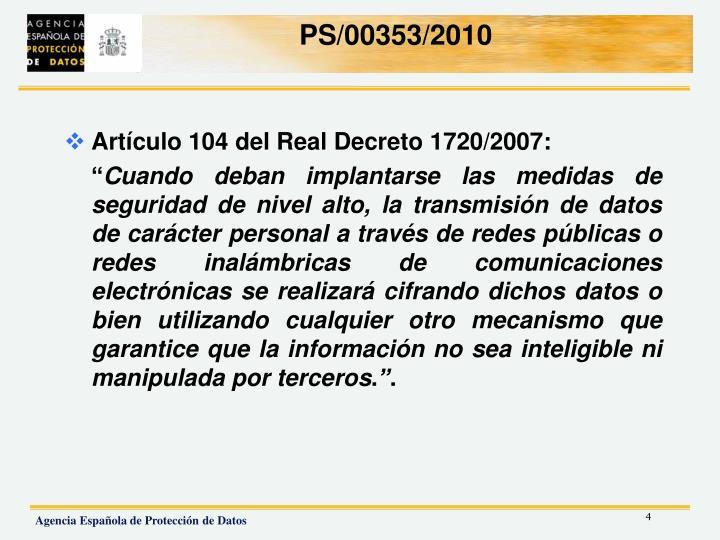 PS/00353/2010