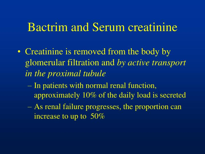 Bactrim and Serum creatinine