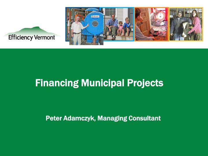 Financing municipal projects