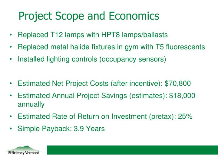 Project Scope and Economics