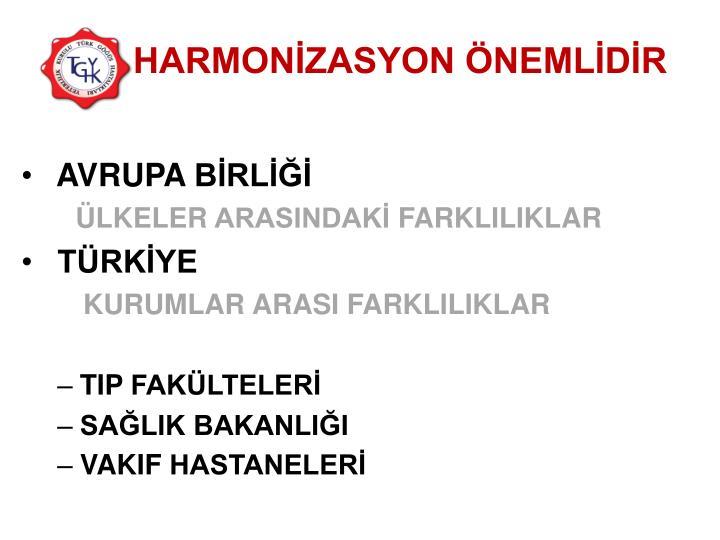 HARMONİZASYON