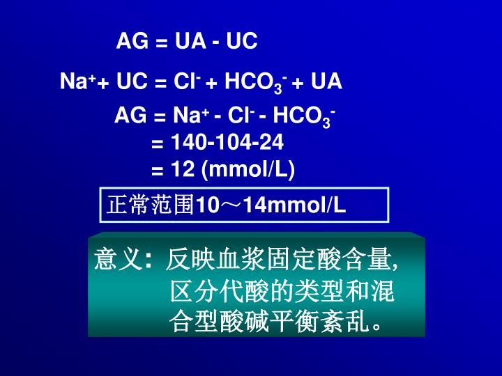 AG = UA - UC